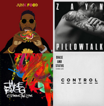 Tinie Tempah - Junk Food, ZAYN - Pillowtalk, Jake Bugg - Gimme the Love, Chase & Status - Control